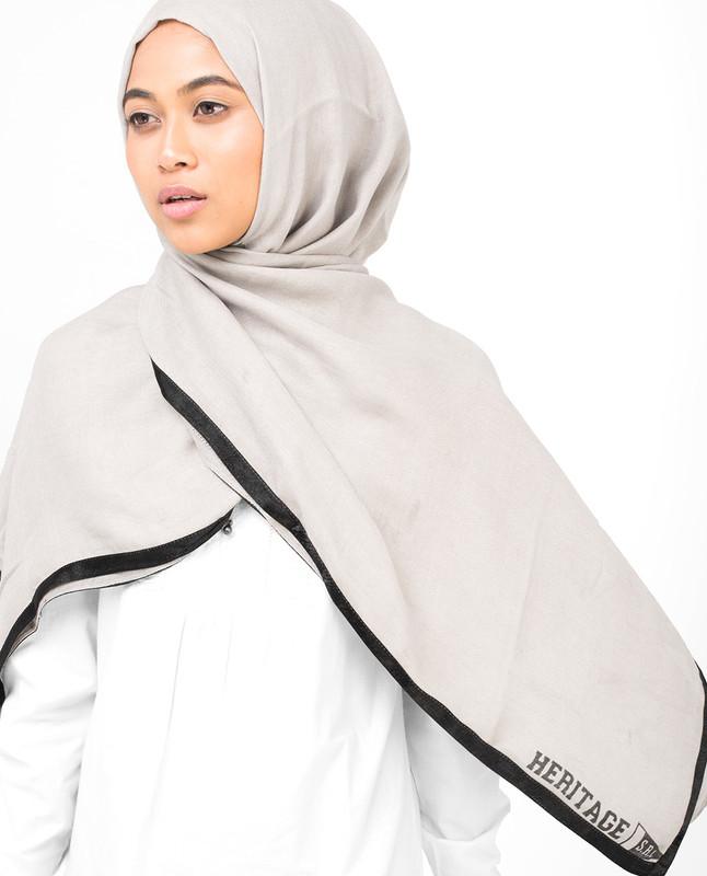 Contrast Hem Viscose Hijab