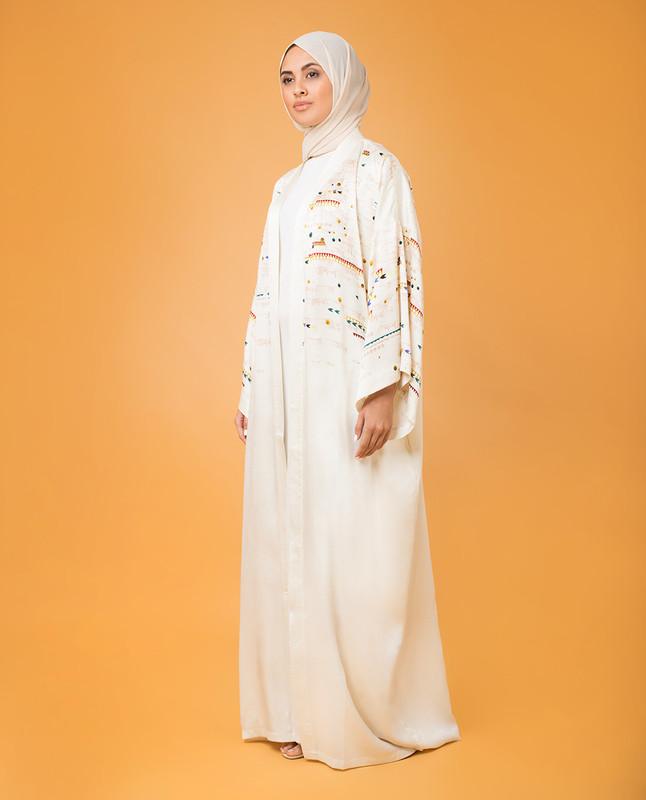 Alom Silk Print Abaya