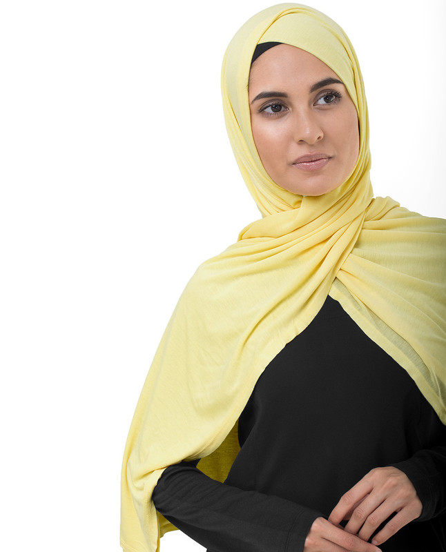 Goldfinch Yellow Viscose Jersey Scarf