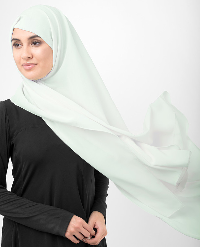 Fairest Jade Green Poly Georgette Scarf
