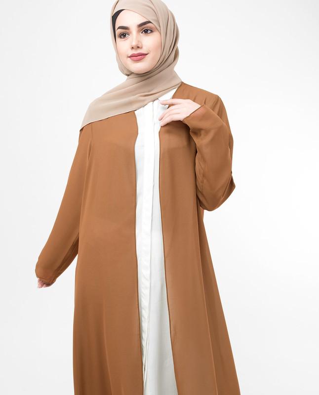 Long Sheer Ginger Brown Outerwear