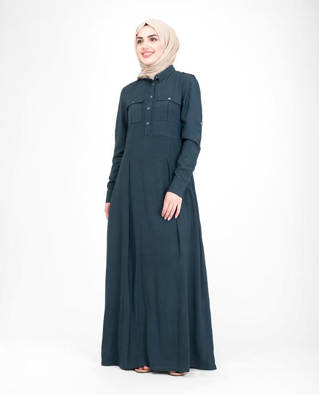 Mid front open abaya jilbab