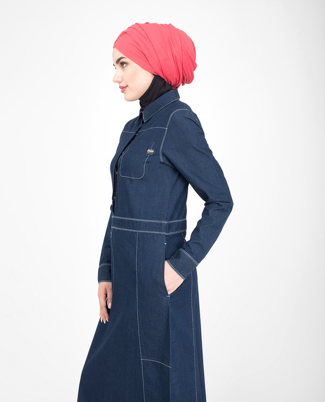 Fine Denim Detail Jilbab