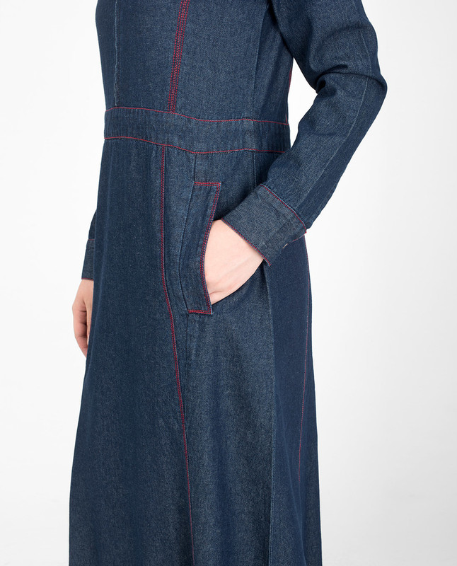 relaxed fit jilbab abaya