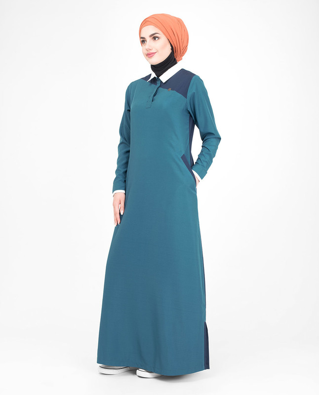 Polo collar jilbab abaya