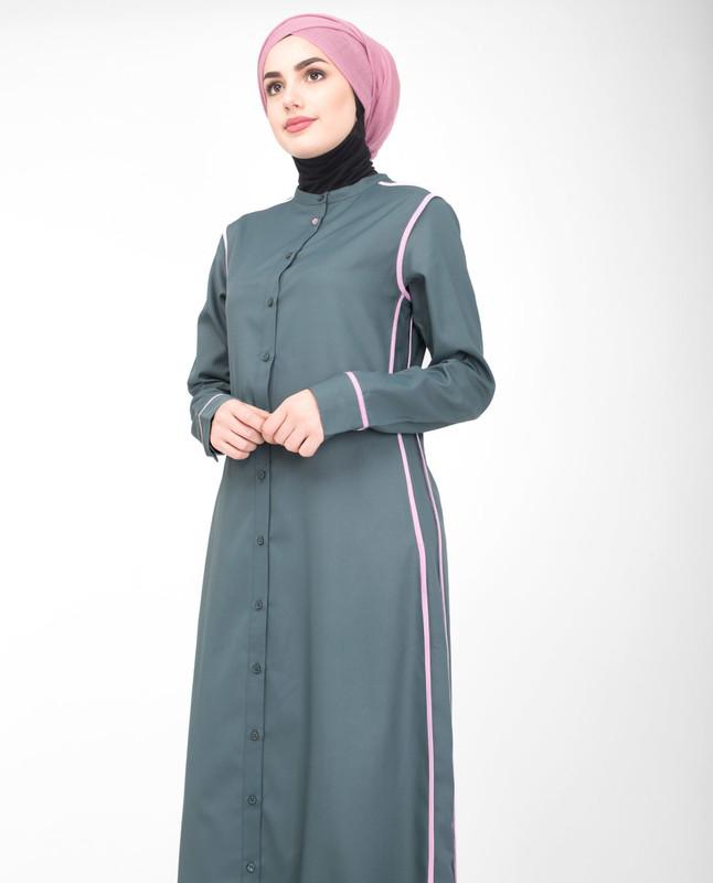 Comfort fit grey jilbab abaya