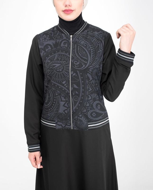 Casual black jilbab abaya