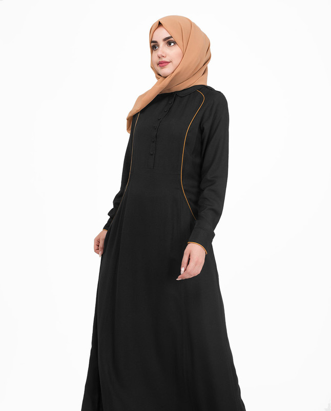 Black flared jilbab abaya