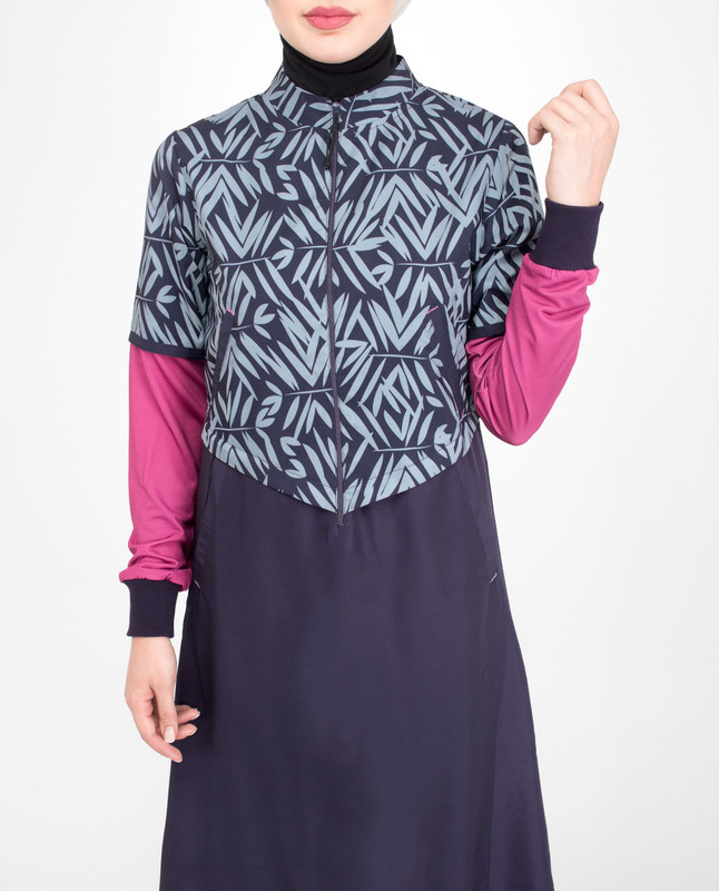 Zipper opening jilbab abaya