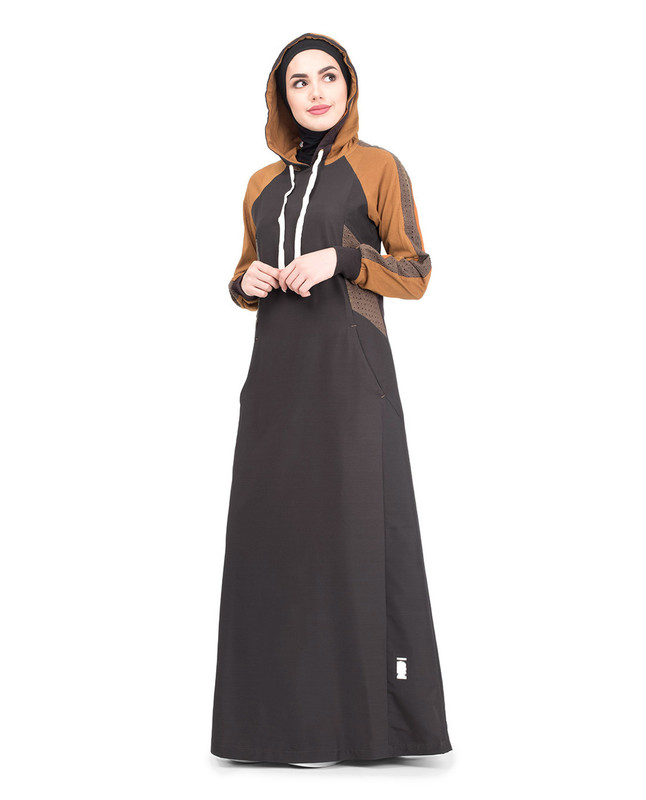Cotton hooded jilbab abaya