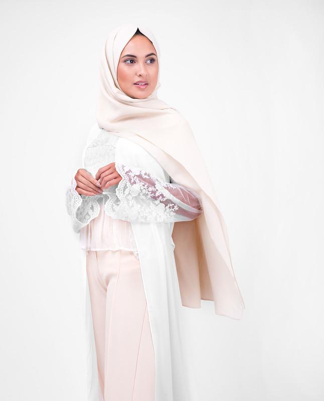 Long White Lace Outerwear