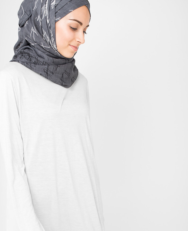 Steel Gray Hijab