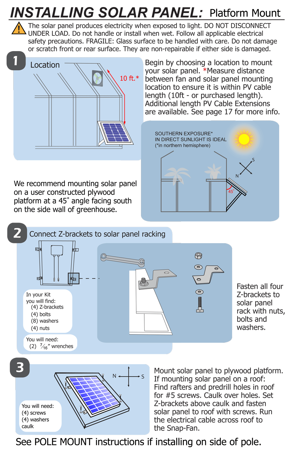 Information - Solar Install and Wiring - Snap-Fan; Solar Hobby ...