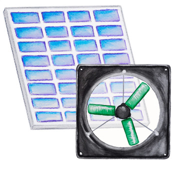 Medium Solar Fan Kit