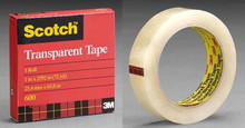 "3M Clear Sealing Tape Scotch 600 3/4"" x 2592 in"