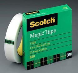 Magic Tape, 3/4 x 2592, on 3 in Core, Scotch