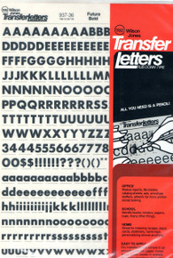 "Rub On , Dry Transfer , Letter Decals , 36pt , 3/8"" , 937-36"
