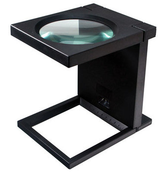 Large Lighted Foldable Linen Tester Stand Magnifier , so-MA1103L