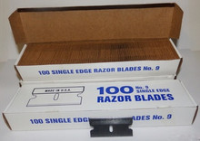 FLS, Single Edge Razor Blades, 100 box,.009, 9, FLS-SERB9