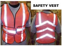 Reflective Safety Vest Velcro Adjustable 1 size fits all
