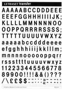 Letraset RDC0111, Dry Transfer Lettering, Rubons, 10mm