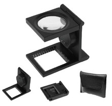 Thread Counter Magnifier , 8X Metal body, with LED Light , MT-LTM8X