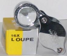 Bulk Case of 12 of the 15X - 16X Loupe 23mm Selsi Optics Magnifier 413 , 413-16x