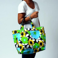 Canvas Daily Tote bag in Bloom Blue