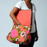 Messenger Bag w / laptop sleeve in Bloom Orange