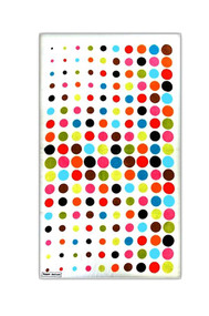 Beach Towel in Aero Dot White design