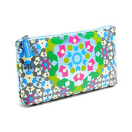 Cosmetic Purse in Kaleidoscope Blue design