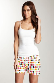 Women's Cotton Sateen Boxer in Aero Dot design