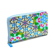 Zip Wallet Kaleidoscope Blue design