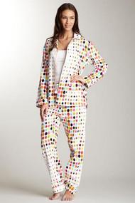 Unisex Cotton Sateen Pajama in Aerodot design