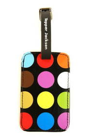 Luggage Tag in AeroDot Black design