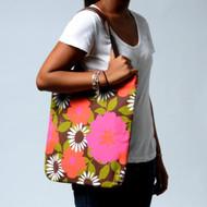 Canvas Magazine Tote bag in Bloom Orange
