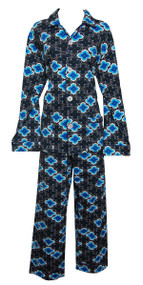Please note this image is to only show the pattern - Actual color of pajama is Brown as featured in swatch.