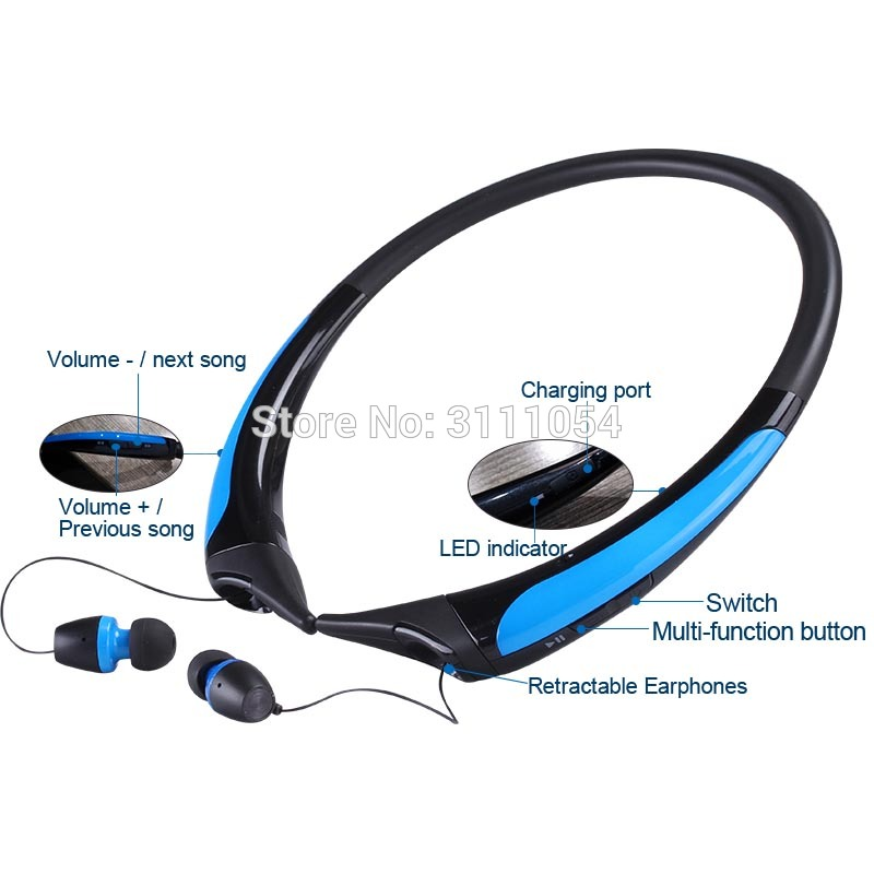 New HX850S Sport Bluetooth Headset Stereo Wireless Earphone