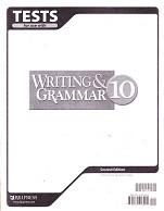 Writing & Grammar 10, 2d ed., Tests & Test Key Set