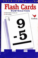 Cardinal Subtraction Flash Cards, Premier Edition
