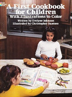 First Cookbook for Children, with illustrations to color