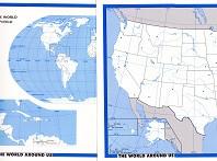 World Around Us: Political World & United States blank maps