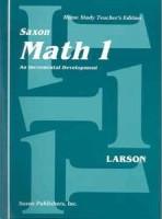 Saxon Math 1, Home Study Teacher Edition
