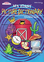 My First Picture Dictionary Coloring Book