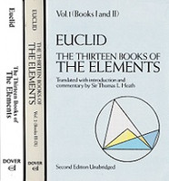 Euclid, the Thirteen Books of the Elements, 3 Books Set