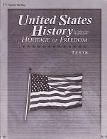 United States History 11: Heritage of Freedom, Test Key
