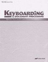 Keyboarding and Document Processing 10-12, Quiz-Test Set