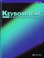 Keyboarding and Document Processing 10-12, Solution Key