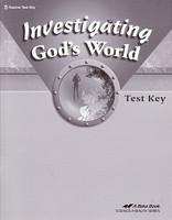 Investigating God's World 5, Test Key