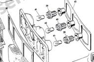 Rear Tail  Lamp Gasket Set-(one lamp)